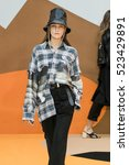 Small photo of PARIS, FRANCE - SEPTEMBER 27: A model walks the runway during the Aalto designed by Tuomas Merikoski show as part of the PFW Womenswear SS 2017 on September 27, 2016 in Paris, France