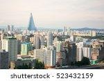 capital pyongyang city's... | Shutterstock . vector #523432159