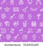 party background pattern. white ...   Shutterstock .eps vector #523433185