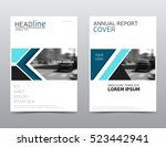 blue annual report cover.... | Shutterstock .eps vector #523442941