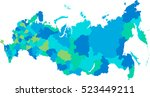 russia map | Shutterstock .eps vector #523449211