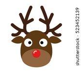 deer head.reindeer head... | Shutterstock .eps vector #523452139