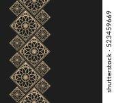 golden frame in oriental style. ... | Shutterstock .eps vector #523459669