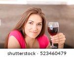 beautiful young girl posing in... | Shutterstock . vector #523460479