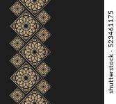 golden frame in oriental style. ...   Shutterstock .eps vector #523461175