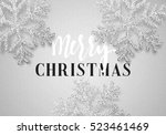 christmas background gray color ... | Shutterstock .eps vector #523461469
