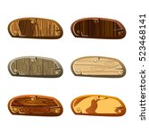 set of wooden boards. game...