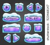 winter cartoon lilac buttons...