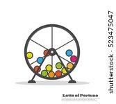 lottery balls. flat icon | Shutterstock .eps vector #523475047