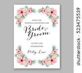 wedding invitation floral... | Shutterstock .eps vector #523475539