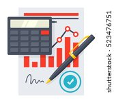 financial statement concept | Shutterstock .eps vector #523476751