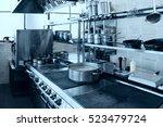 professional kitchen interior ... | Shutterstock . vector #523479724