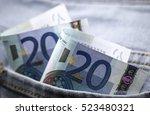 Twenty Euro Banknotes Stuck Ou...