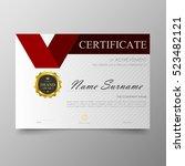 certificate template awards... | Shutterstock .eps vector #523482121