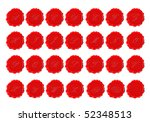 complete alphabet in red wax on ... | Shutterstock . vector #52348513