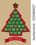 christmas advent calendar   Shutterstock .eps vector #523486027