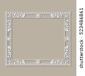 carved vintage frame made of... | Shutterstock .eps vector #523486861