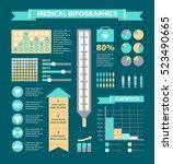 vector medical infographic set. ... | Shutterstock .eps vector #523490665
