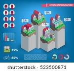 vector house infographics. city ... | Shutterstock .eps vector #523500871