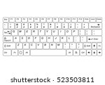 Computer Keyboard Isolated On ...