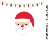 vector card with santa and... | Shutterstock .eps vector #523505689