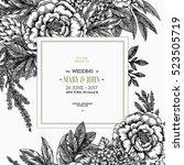 floral wedding invitation.... | Shutterstock .eps vector #523505719