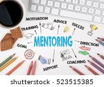 mentoring concept. white office ... | Shutterstock . vector #523515385