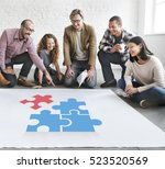 team building group work  | Shutterstock . vector #523520569