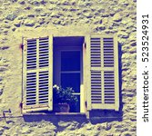 french rustic window with old... | Shutterstock . vector #523524931