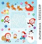 merry christmas santa clauses... | Shutterstock .eps vector #523531339