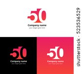 50 logo icon flat and vector... | Shutterstock .eps vector #523536529
