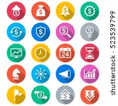 business flat color icons | Shutterstock .eps vector #523539799