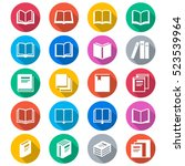 book flat color icons | Shutterstock .eps vector #523539964