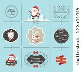 christmas vector collection | Shutterstock .eps vector #523541449