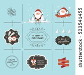 christmas vector collection | Shutterstock .eps vector #523541455