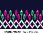 geometric ethnic pattern design ... | Shutterstock .eps vector #523541851