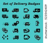 delivery sign icons   car icons ... | Shutterstock .eps vector #523542409