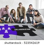team building collaboration... | Shutterstock . vector #523542619