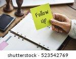 follow up review inspection... | Shutterstock . vector #523542769