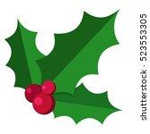 European Christmas Berry Holly...