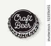 craft beer bottle cap with... | Shutterstock .eps vector #523556431