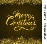 golden glitter christmas... | Shutterstock .eps vector #523557169
