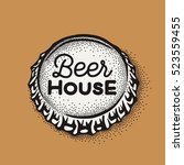 craft beer bottle cap with... | Shutterstock .eps vector #523559455
