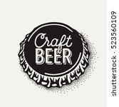 craft beer bottle cap with... | Shutterstock .eps vector #523560109