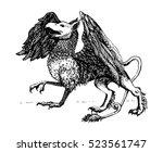 griffin.legendary creature.... | Shutterstock .eps vector #523561747