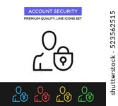 vector account security icon.... | Shutterstock .eps vector #523562515