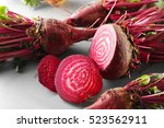Fresh Young Sliced Beets On...