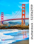 golden gate bridge in san... | Shutterstock . vector #523562959