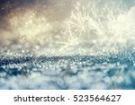 magic holiday abstract glitter... | Shutterstock . vector #523564627