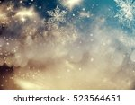 magic holiday abstract glitter... | Shutterstock . vector #523564651